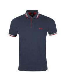 BOSS Mens Blue Athleisure Paul Polo Shirt