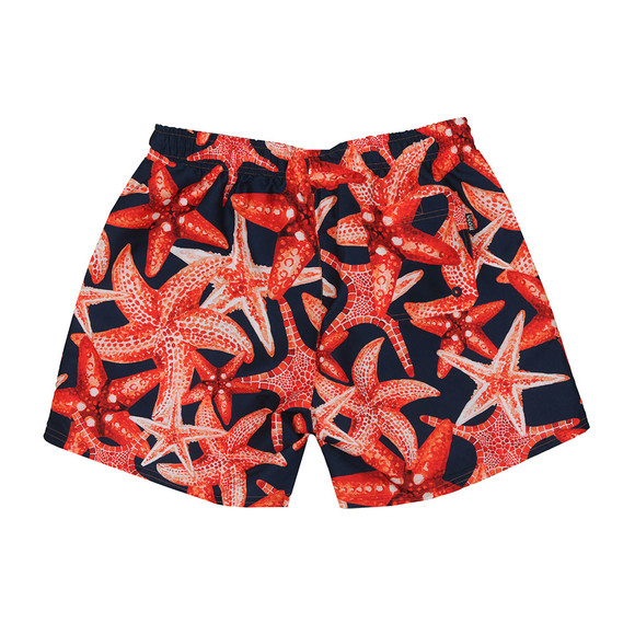 BOSS Bodywear Mens Blue Threadfin Swim Short