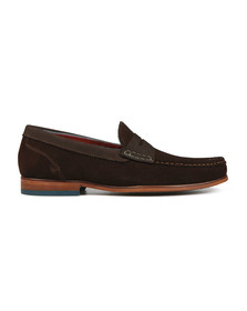 Ted Baker Mens Brown Saddle Loather