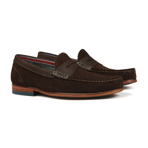 Ted Baker Mens Brown Saddle Loafer main image