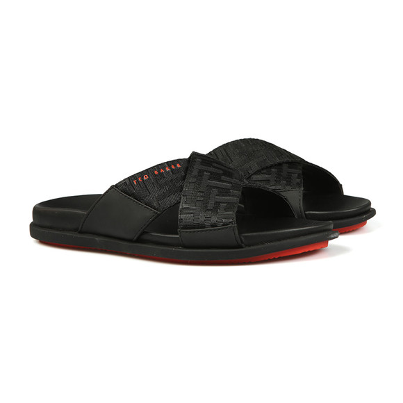 Ted Baker Mens Black Mablis Crossover Strap Slide main image