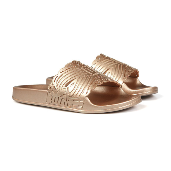 Ted Baker Womens Bronze Missley Metallic Laser Cut Slider main image