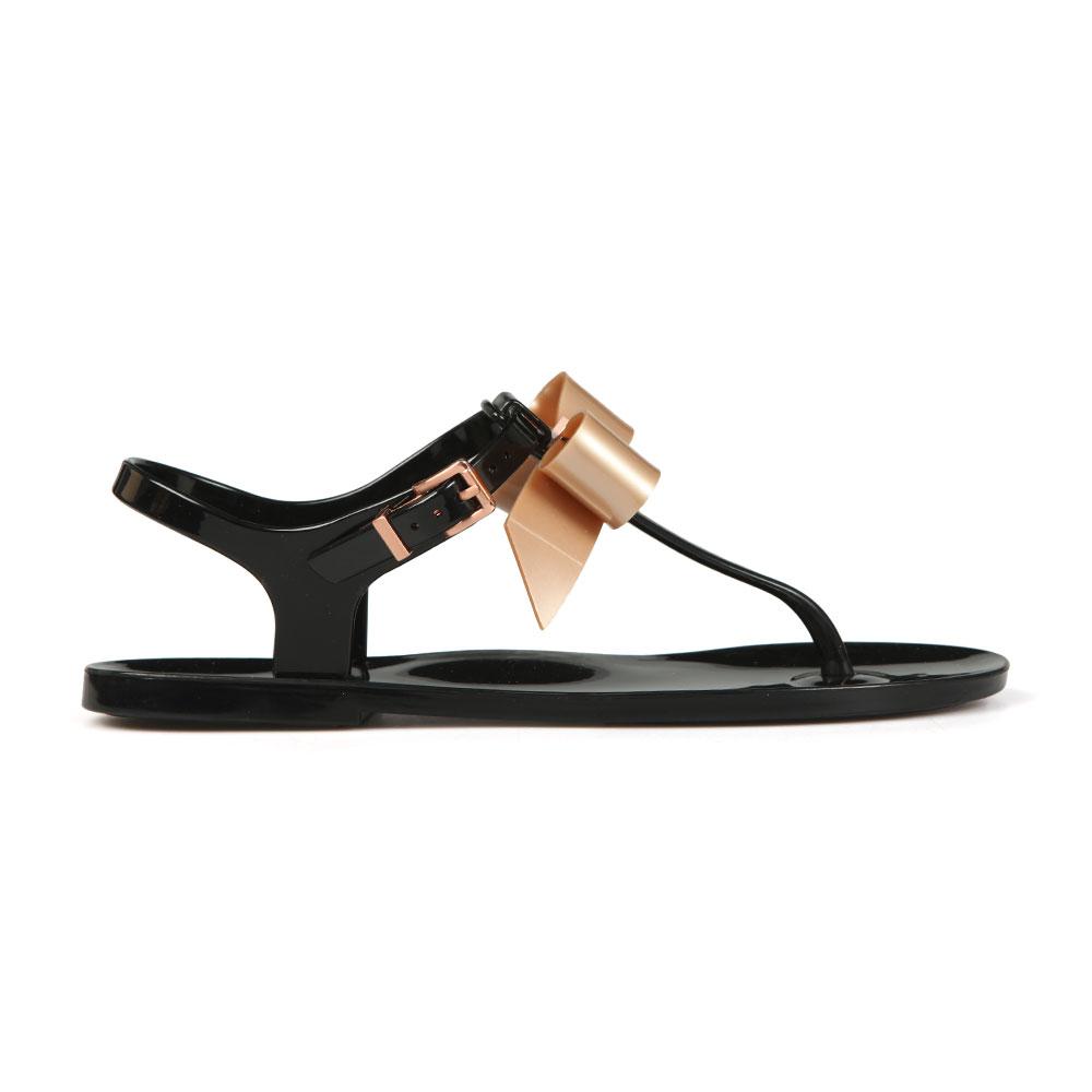 5952a02e7673 Ted Baker Womens Black Teiya Bow Detail Jelly Sandal