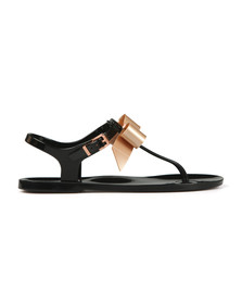 Ted Baker Womens Black Teiya Bow Detail Jelly Sandal