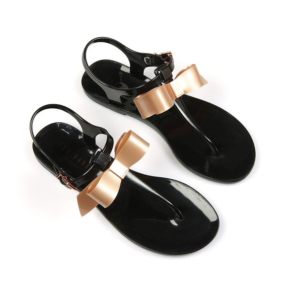 Ted Baker Womens Black Teiya Bow Detail Jelly Sandal main image