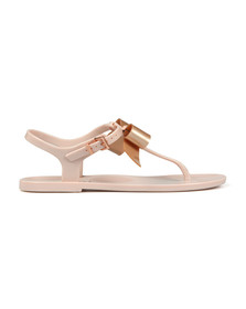 Ted Baker Womens Pink Teiya Bow Detail Jelly Sandal