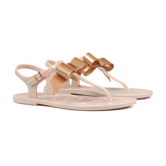 Ted Baker Womens Pink Teiya Bow Detail Jelly Sandal main image