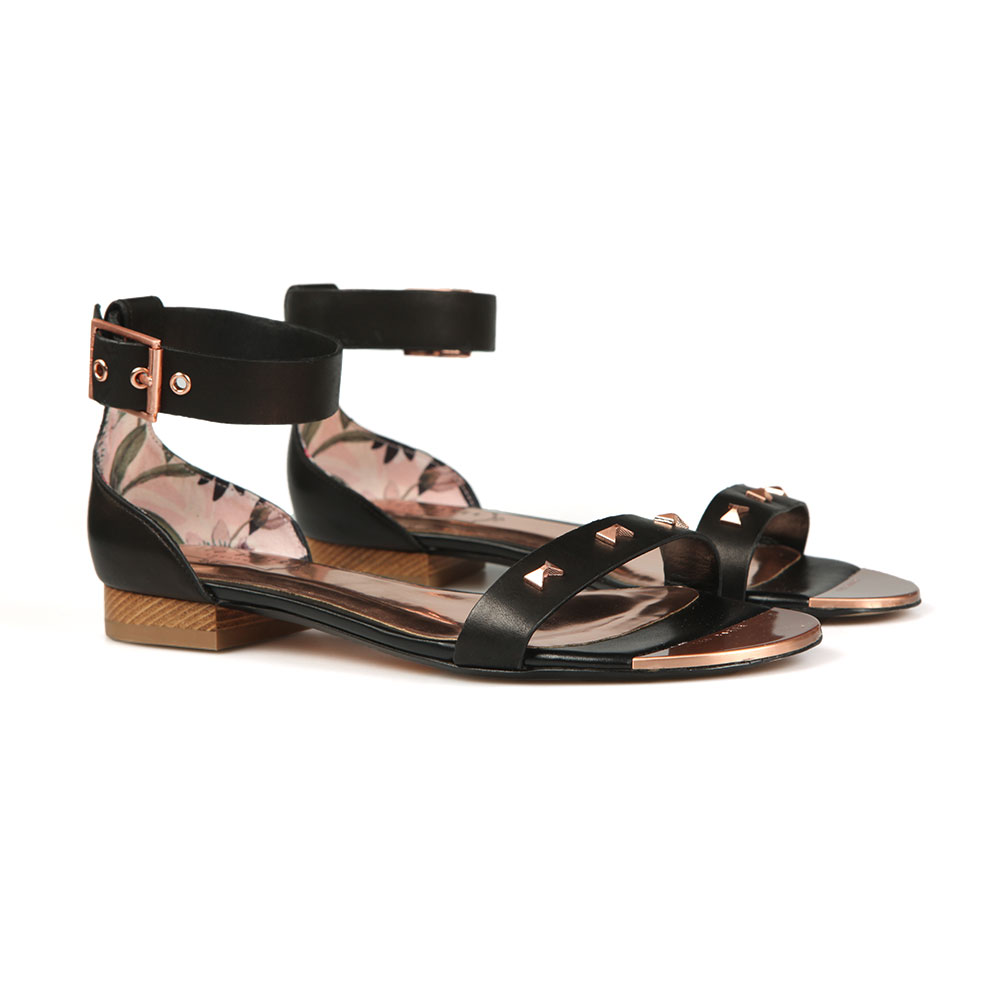 Ovey Studded Bow Detail Flat Sandal main image