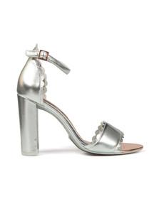 Ted Baker Womens Silver Raidhal Scallop Detail Sandal