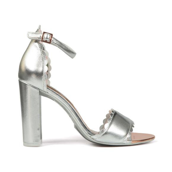 Ted Baker Womens Silver Raidhal Scallop Detail Sandal main image
