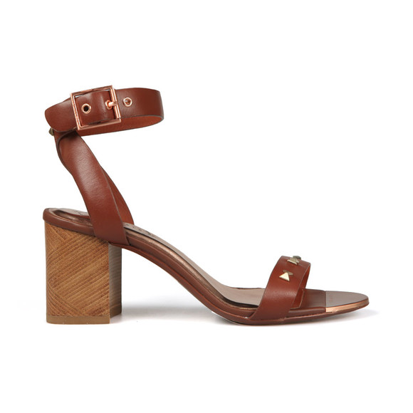Ted Baker Womens Brown Biah Studded Bow Detail Sandal