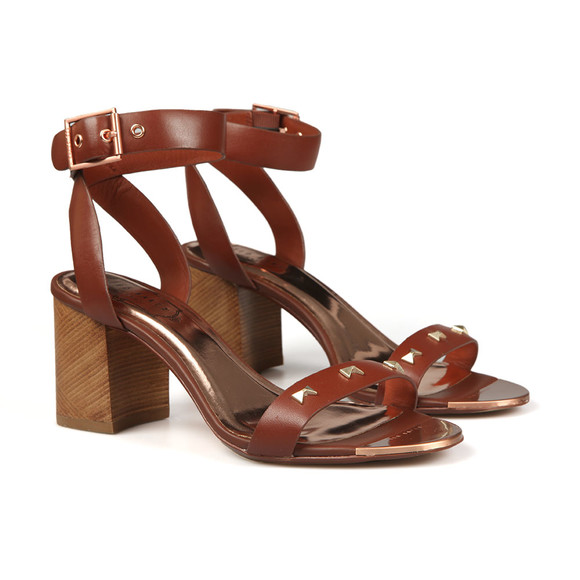 Ted Baker Womens Brown Biah Studded Bow Detail Sandal main image
