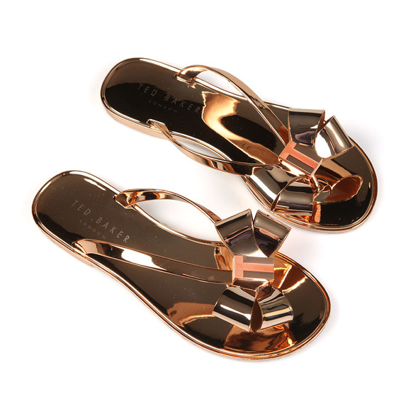 Ted Baker Womens Bronze Glamari Bow Detail Jelly Flip Flop main image