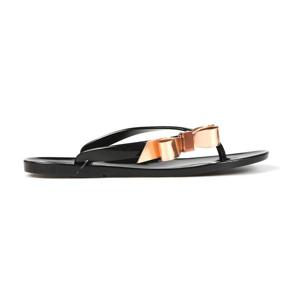 Ted Baker Womens Black Suszie Bow Detail Flip Flop main image