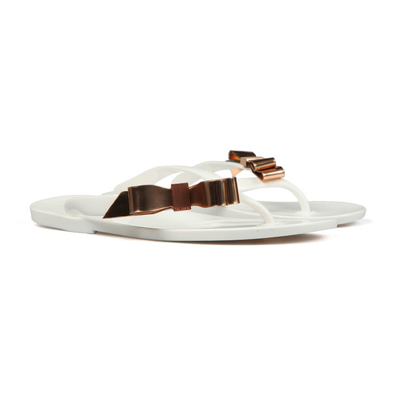 Ted Baker Womens White Suszie Bow Detail Flip Flop main image