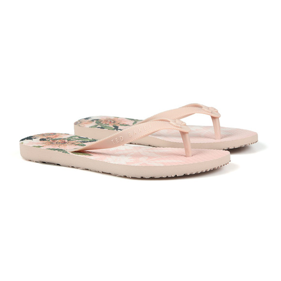 Ted Baker Womens Pink Beaula Mini Bow Flip Flop main image