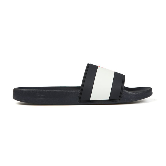 Tommy Hilfiger Mens Blue Essential Flag Slide