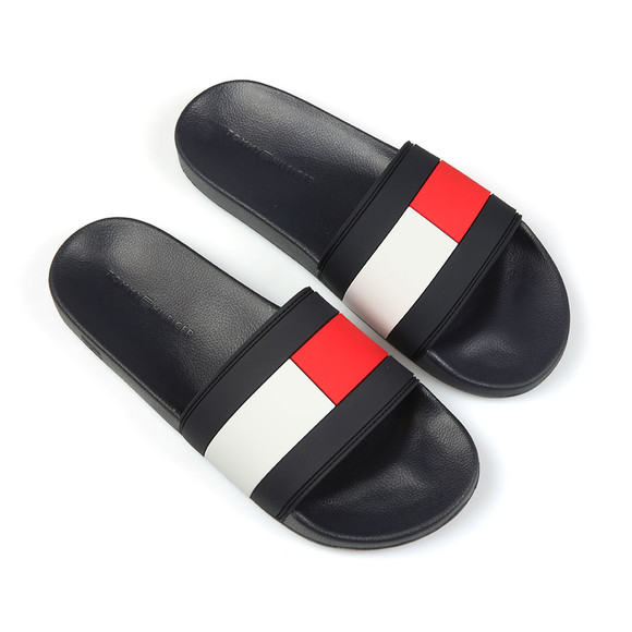 Tommy Hilfiger Mens Blue Essential Flag Slide main image