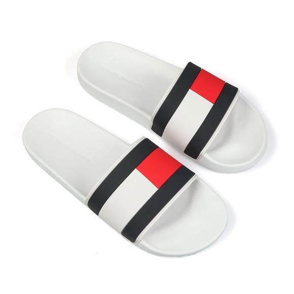 Tommy Hilfiger Mens White Essential Flag Slide main image