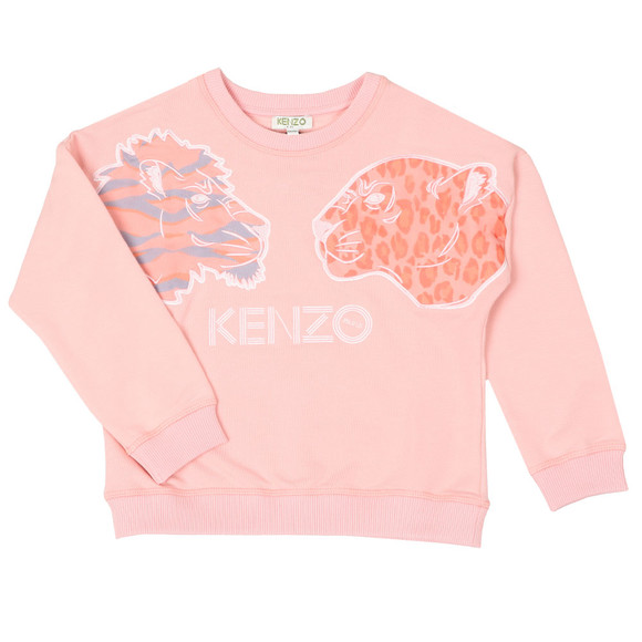 Kenzo Kids Girls Pink Florie Party Sweat main image