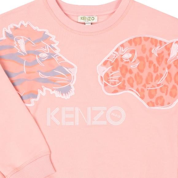 Kenzo Kids Girls Pink Florie Party Sweat
