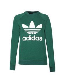adidas Originals Womens Green Large Trefoil Crew Sweatshirt