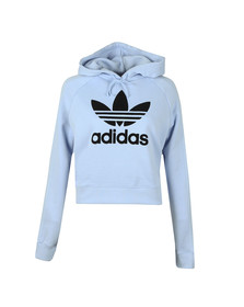 adidas Originals Womens Blue LL Cropped Hoodie
