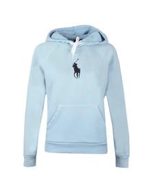 Polo Ralph Lauren Womens Blue Shrunken Overhead Hoody