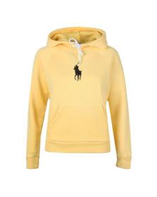 Polo Ralph Lauren Womens Yellow Shrunken Overhead Hoody
