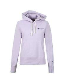 Champion Reverse Weave Womens Purple Small Script Logo Overhead Hoody
