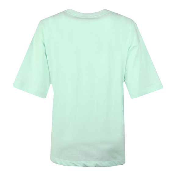 Champion Womens Green Small Script Logo Cropped T Shirt main image
