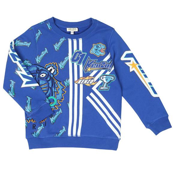 Kenzo Kids Boys Blue Freyo Racing Kenzo Sweatshirt main image