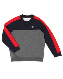 Lacoste Sport Boys Grey SJ6543 Panel Sweatshirt