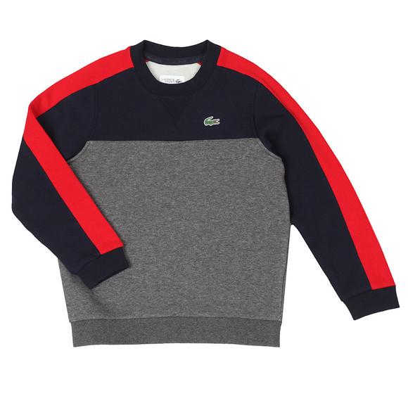 Lacoste Sport Boys Grey SJ6543 Panel Sweatshirt main image