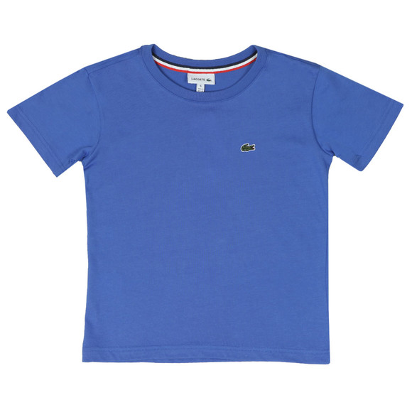 Lacoste Boys Blue Small Logo T Shirt main image
