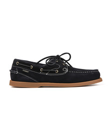 Loake Mens Blue Lymington Suede Boat Shoe