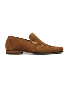 Loake Mens Brown Nicholson Suede Loafer