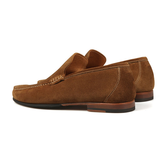 Loake Mens Brown Nicholson Suede Loafer main image