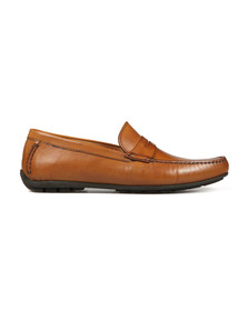 Loake Mens Brown Goodwood Leather Moccasin Shoe