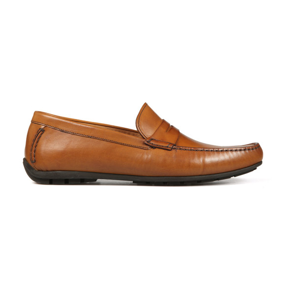 Loake Mens Brown Goodwood Leather Moccasin Shoe main image
