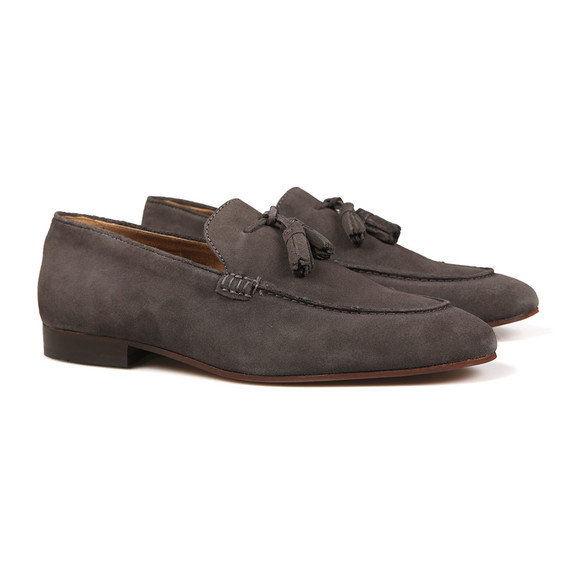 H By Hudson Mens Grey Bolton Suede Shoe main image