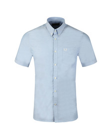 Fred Perry Mens Blue Classic S/S Oxford Shirt