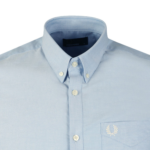 Fred Perry Mens Blue Classic S/S Oxford Shirt main image