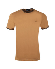 Fred Perry Mens Brown Twin Tipped T-shirt