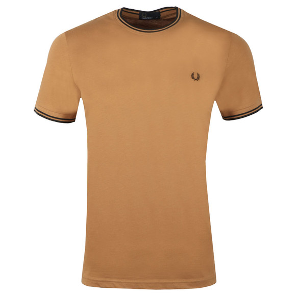 Fred Perry Mens Brown Twin Tipped T-shirt main image