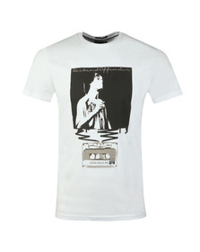 Weekend Offender Mens White King Monkey T-Shirt