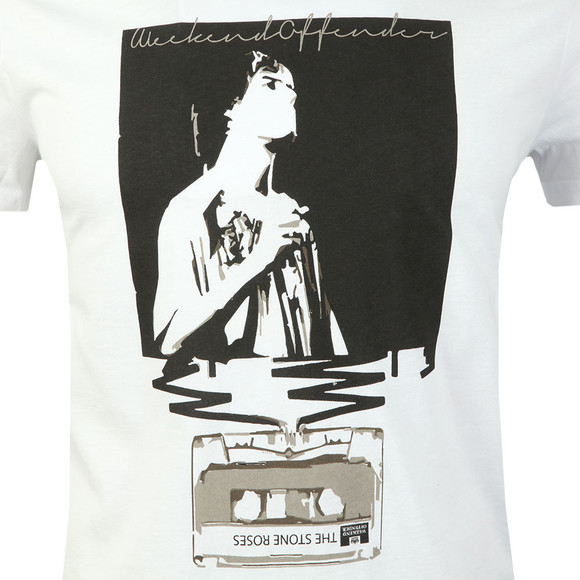Weekend Offender Mens White King Monkey T-Shirt main image