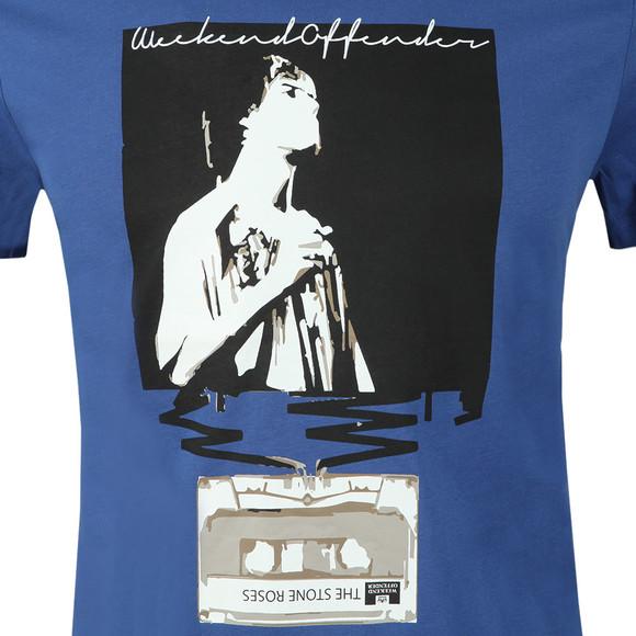 Weekend Offender Mens Blue King Monkey T-Shirt main image