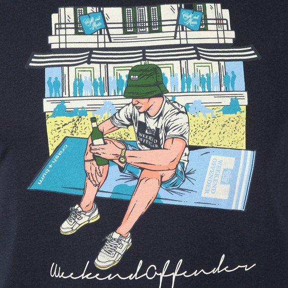 Weekend Offender Mens Blue Cafe Del Mar T-Shirt main image
