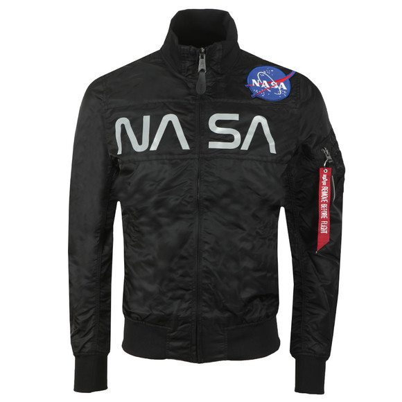 Alpha Industries Mens Black NASA Flight Nylon Jacket main image